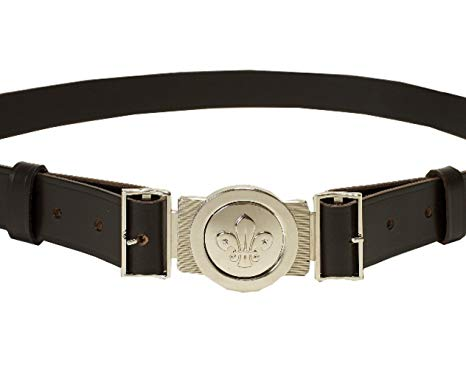 Scout Uniform Leather Belt and Buckle Set (XL-XXL)