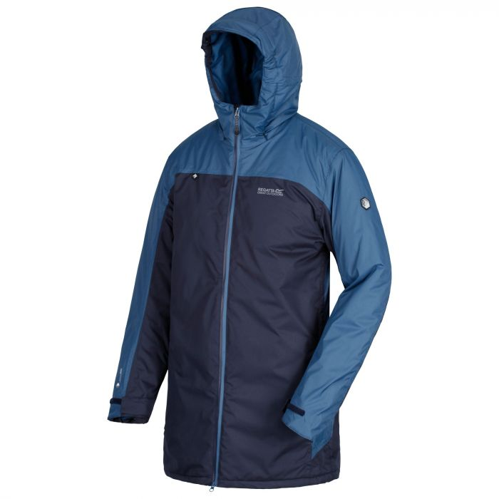Black 'Largo' insulated hooded waterproof jacket