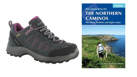 WALK-LITE SANTIAGO WATERPROOF WOMEN'S WALKING SHOE  + The Northern Caminos Book