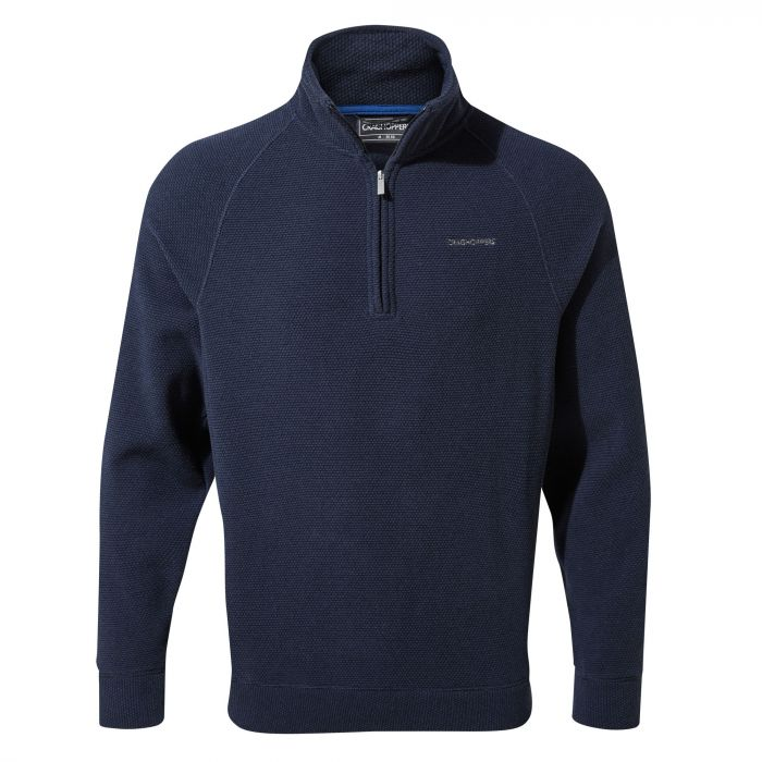 Leto Half-Zip - Blue Navy Stripe