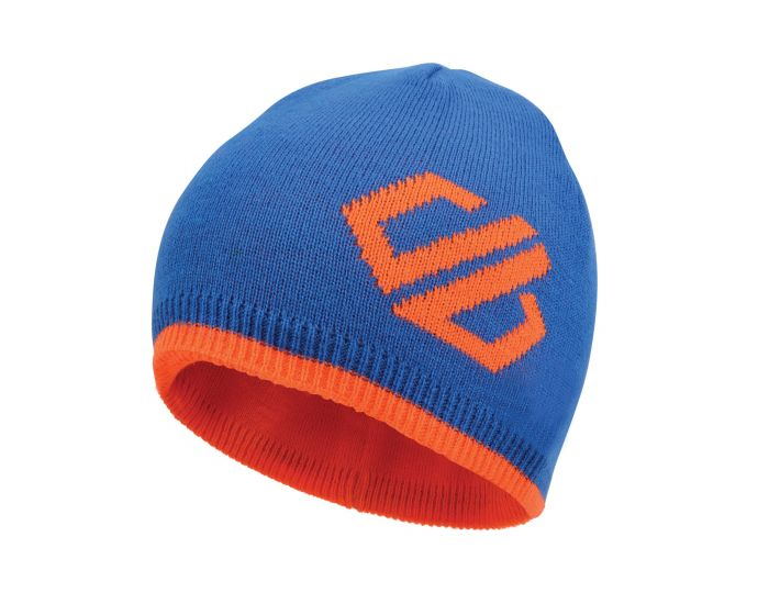 Kids' Frequent Beanie Hat Oxford Blue Vibrant Orange