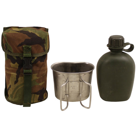 NL canteen, with cover, NL camo, mug, used