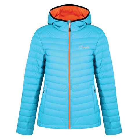 WOMEN'S DRAWDOWN DOWN FILL INSULATED JACKET SEA BREEZE BLUE