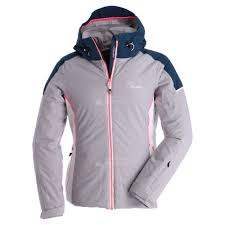 Women's Contrive Ski Jacket Silver Flash Blue Wing