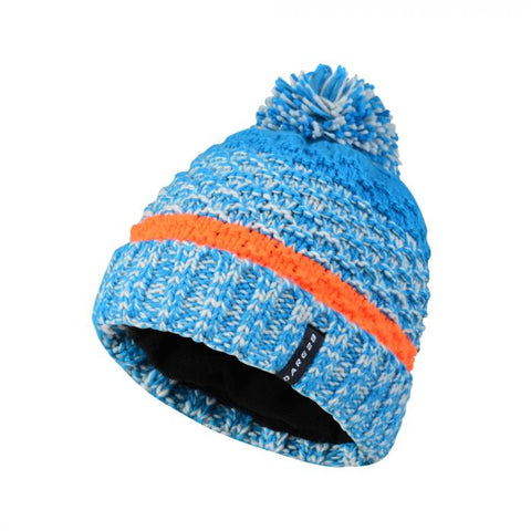 MEN'S SONATA BOBBLE BEANIE HAT METHYL BLUE