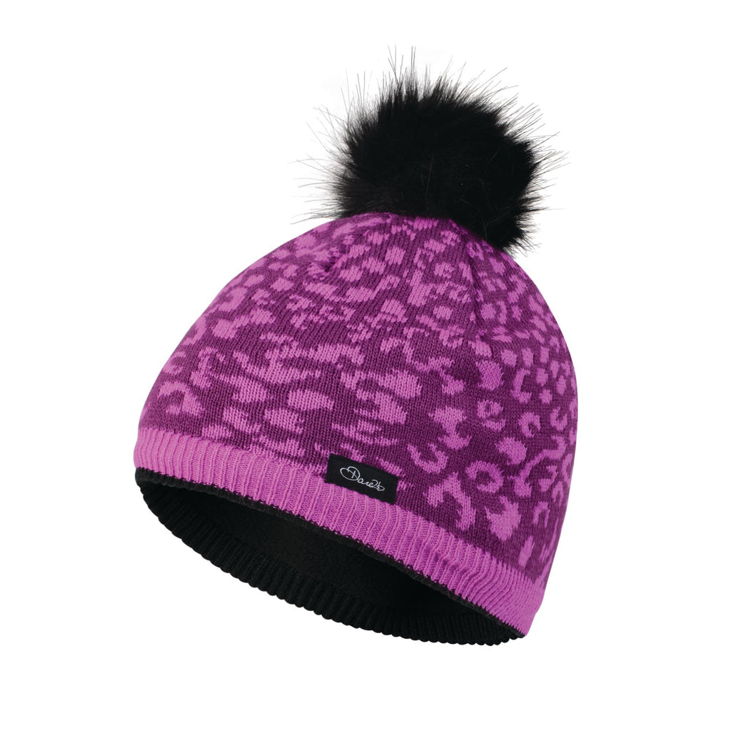 KIDS SPLENDID BOBBLE BEANIE HAT ULTRA VIOLET PURPLE