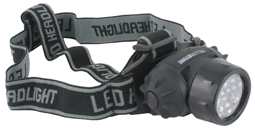 Yellowstone 19 LED Head Torch with Adjustable Head Strap