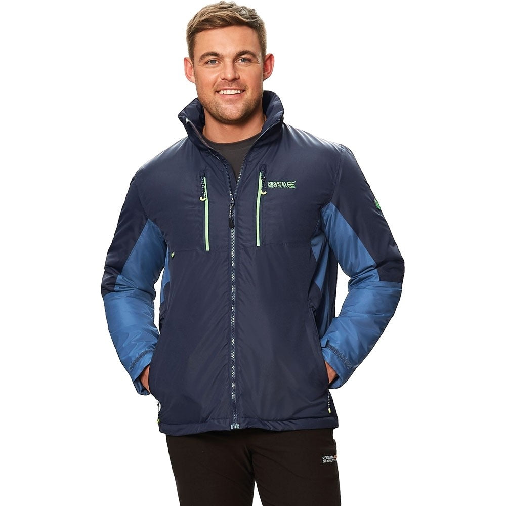 Men's Fabens II Waterproof Insulated Jacket - Blue Seal Grey