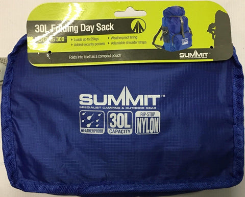 Summit 30l Folding Day Sack Hiking Camping Rucksack Outdoor Travel Backpack
