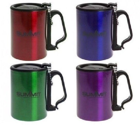 300ml Double Wall Insulated Stainless Steel Mug with Lid Travel Camping Mug