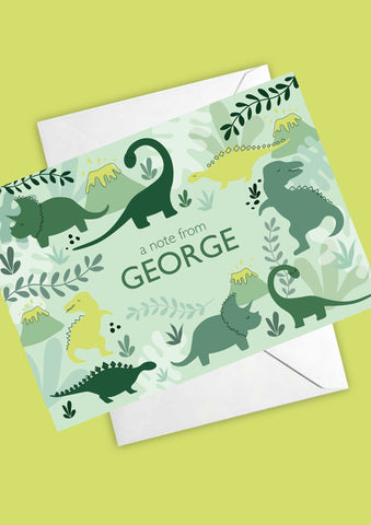 A6 Dinosaur Discovery Personalised Postcards