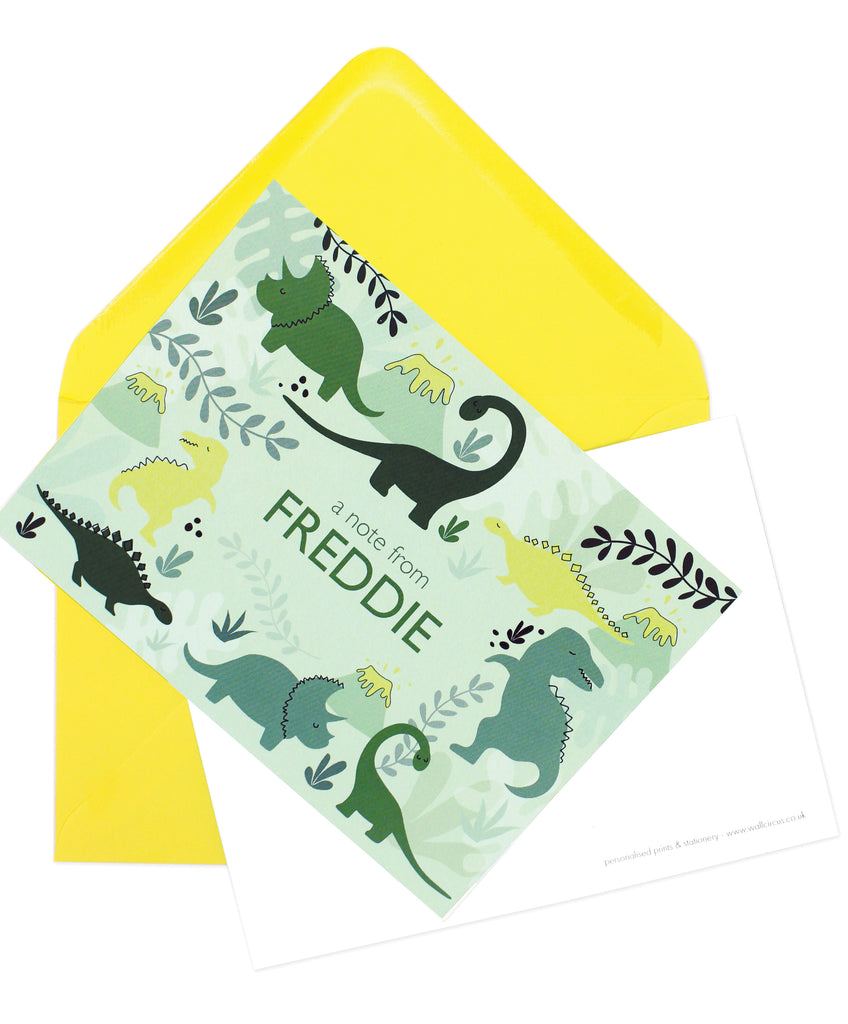 A6 Dinosaur Discovery Personalised Postcard Pack