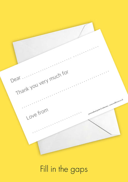 A6 Comic Hero Personalised Postcard Pack - Monochrome & Yellow