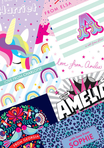 A6 Assorted Personalised Postcard Pack - ELLA