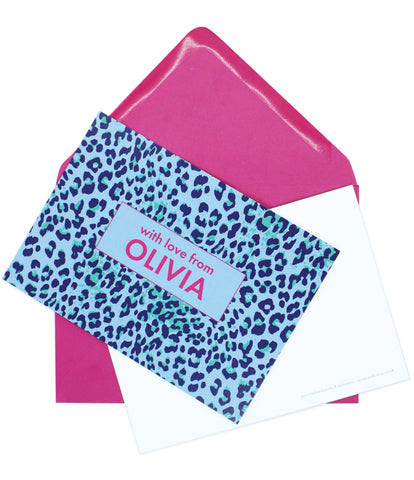 A6 Leopard Print Personalised Postcard Pack