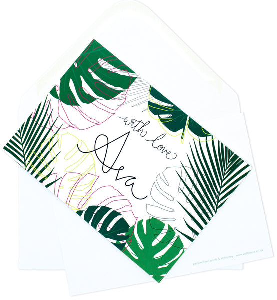 A6 Monstera Mail Personalised Postcard Pack