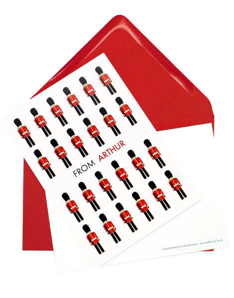 A6 Soldiers Personalised Postcard Pack