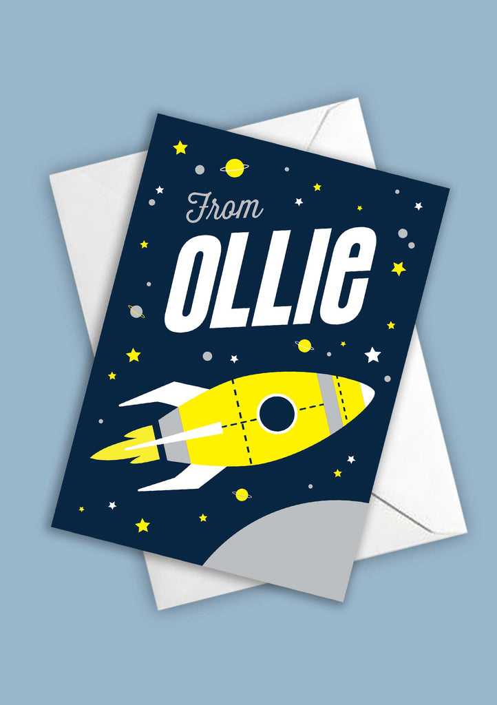 A6 Space Man Personalised Postcards