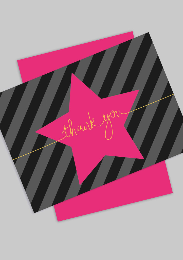 A6 Star 'Thank You' postcards