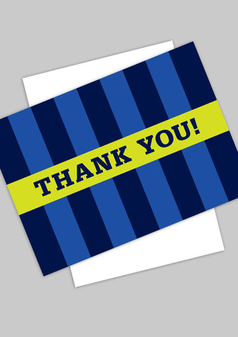A6 Oxford Stripe 'Thank you' postcards