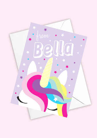 A6 Unicorn Dreams Personalised Postcards
