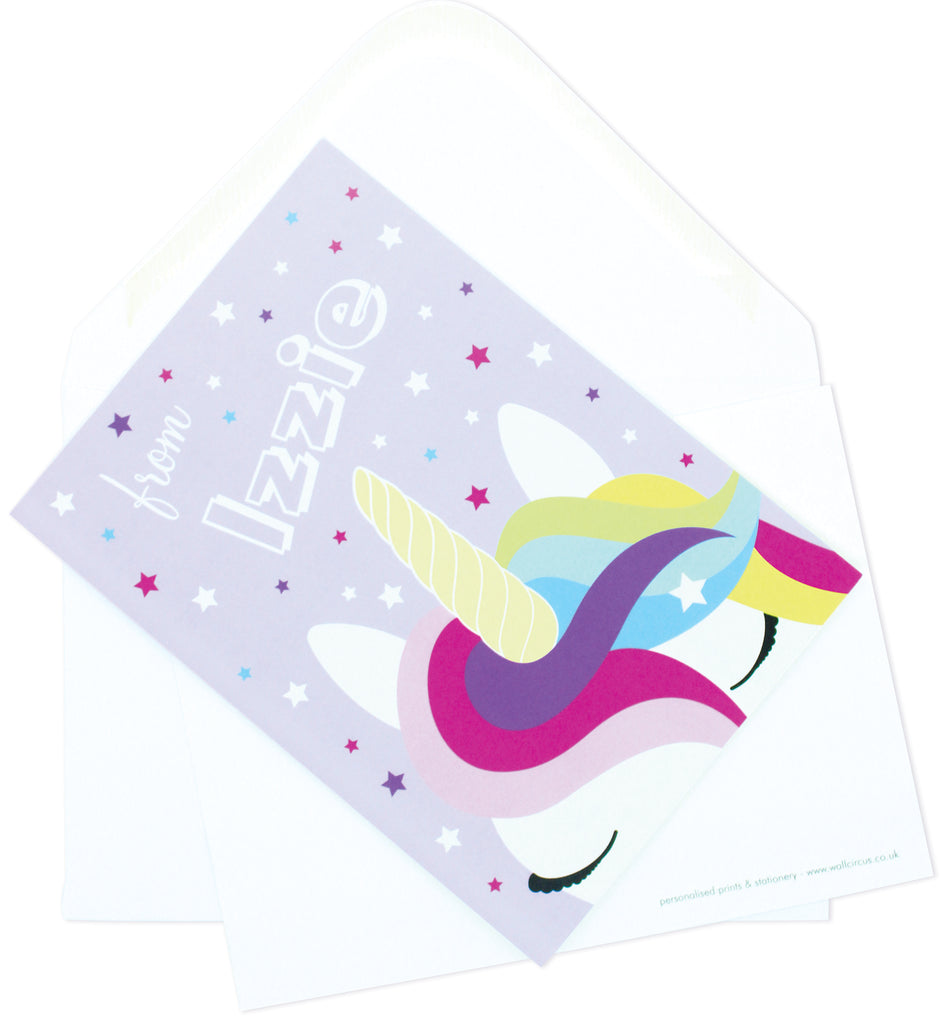 A6 Unicorn Dreams Personalised Postcard Pack
