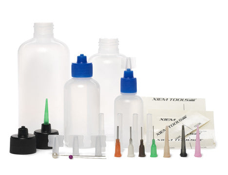 Customizable Applicator Kit (1, 2, 4 & 8 oz bottles and 4caps with 8 tips)