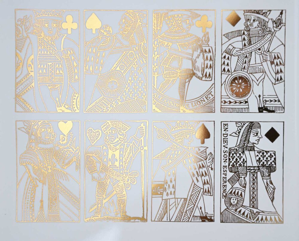 Antique Playing Cards Decal