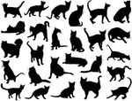 Cat Silhouettes Decal