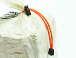Clay Bag Ties - Reusable - Orange (2 ct)