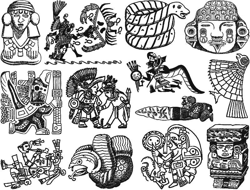 Pre-Columbian Artifacts Decal Black