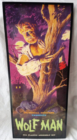 Reprinted Universal Pictures Wolf Man Model Advertising Poster NOS Monster