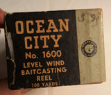 Great Looking Old Ocean City Fishing Reel Box # 1600 Only Great Display Man Cave