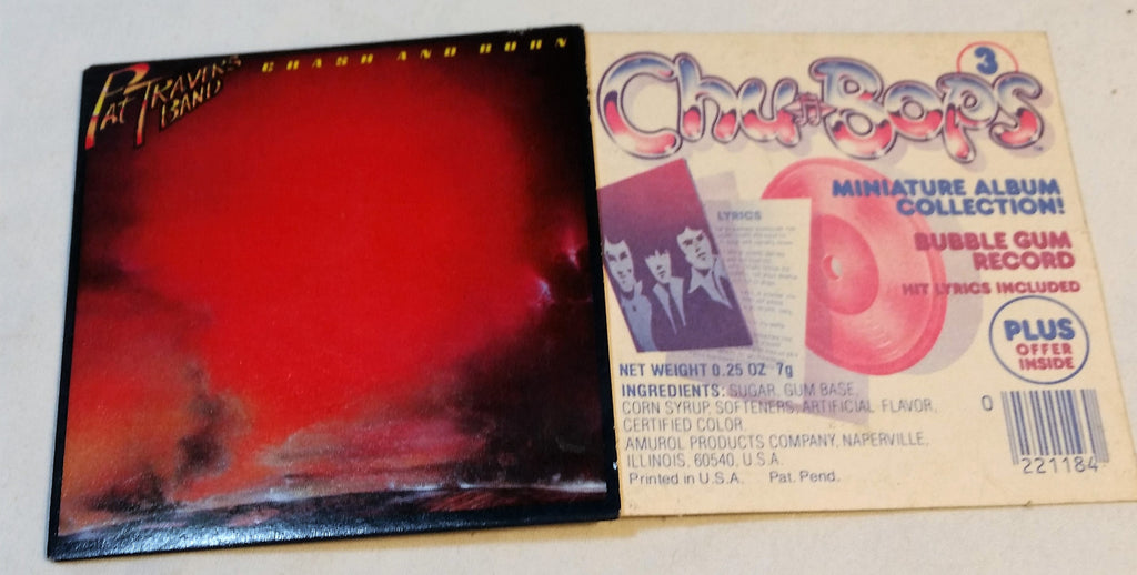 1980's Chu Bops Mini Album Bubble Gum Record Pat Travers Band #3 - Cabin Fever Purveyors