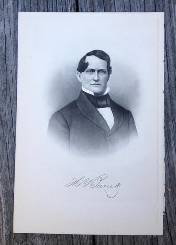 Georgia Thomas Barrett 1910 Original Engraving Print Merchant