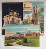 3 Winchester VA Handley Library High School Christ Church Fairfax Tomb Linen PC