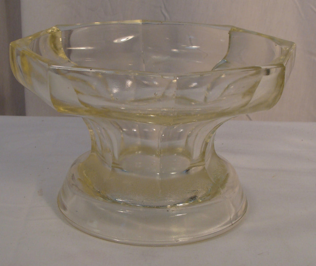 Vintage McKee Glass Punch Bowl Base Heavy Colonial Panel Marked - Cabin Fever Purveyors