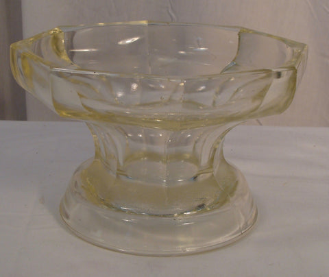 Vintage McKee Glass Punch Bowl Base Heavy Colonial Panel Marked