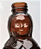 "VTG Large Size 11"" Tall 32 oz Mrs Butterworth's Glass Syrup Brown Bottle No Cap"