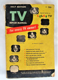 1957 TV Repair Manual DIY Special Section on Color TV Vintage Newsstand