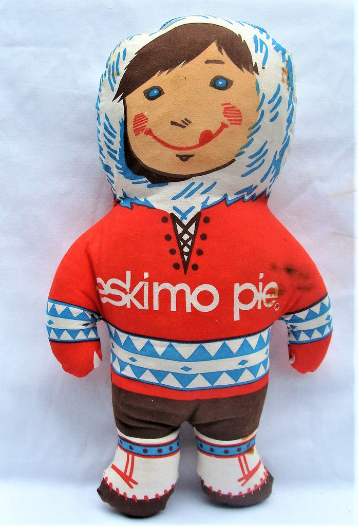1970s Eskimo Pie Soft Plush Advertising Doll Figure Character