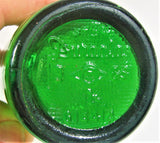 Vintage Shaef's Garrett Club Small Green Soda Bottle County Oakland Md Maryland