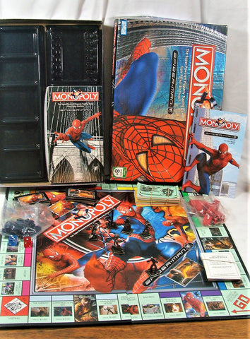 2006 Spiderman Monopoly Game Metal Figures Very Good Interesting Board