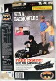 1989 Ralston Batman Empty Cereal Box Win a Batmobile You Can Drive Folded Flat