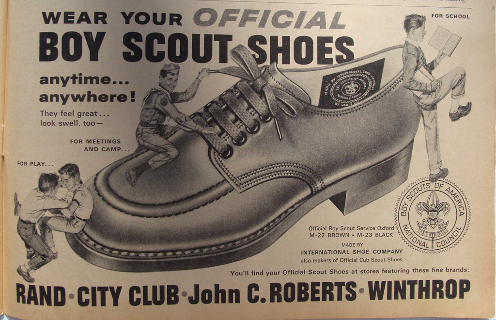 1962 Vintage Official Boy Scout Shoes Print Ad - Cabin Fever Purveyors