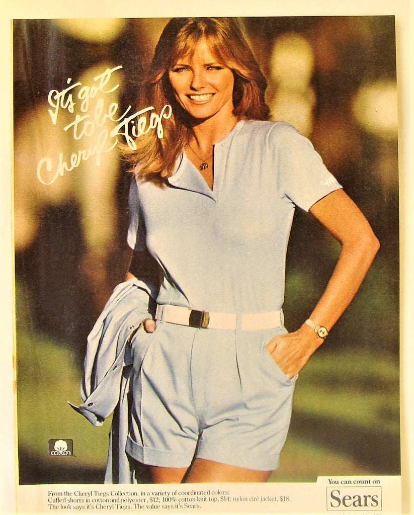 Vintage 1982 Cheryl Tiegs Collection Sears Roebuck Advertising Print Ad