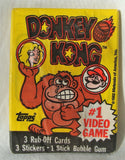 1982 Topps NOS Unopened Sealed Donkey Kong Stickers Single Wax Pack Super Mario