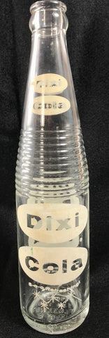 Vintage Dixi Cola Soda Bottle White ACL Very Good Cond Oakland Md Maryland 12 oz - Cabin Fever Purveyors