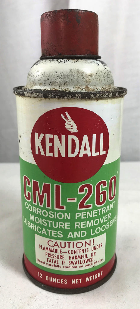 Vintage Kendall CML-260 Corrosion Penetrating Lubricating Spray 12 oz Tin Can - Cabin Fever Purveyors