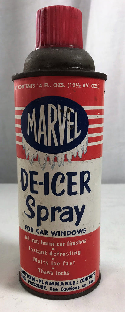 Vintage MARVEL 14 oz Spray De-Icer for Car Windows Butler Pa USA Unusual Item - Cabin Fever Purveyors